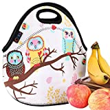 iColor Cute Owls Neoprene Insulated Waterproof Cooler Box Container Soft Case baby lunchbox