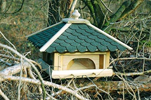 Luxus-Vogelhaus 98700e Großes XXL Vogelhaus aus Holz (Kiefer) für Garten, Balkon, mit 4 herausziehbaren Futterschubladen – XL Vogelhäuschen Vogelfutterhaus - 5