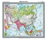 General-Karte von Asien, um 1910 [Plano-Reprint]: Carl Flemmings Generalkarten No. 37. (Friedrich Handtke (1815-1879) - Historische Landkarten)