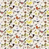 Fabulous Fabrics Baumwollstoff Stockholm Vogel 1 —