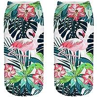 OHlive Suave Zapatillas de Deporte Impresas Flamingo 3D Liners Tobilleras (1 par-HLN02-One Size) (Color : HLN02, tamaño : Talla única)