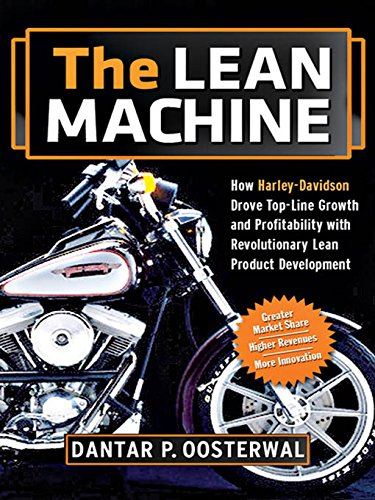Book's Cover of The Lean Machine How HarleyDavidson Drove TopLine Growth and Profitability with Revolutionary Lean Product Development