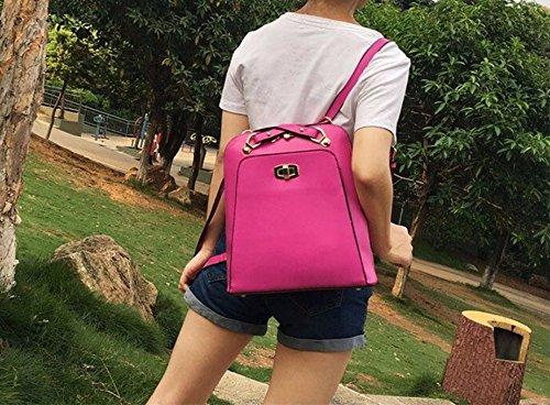 Mode Leder Handtasche modische Handtasche single Schulter kleine Ballen Dame Handtasche Tasche, 29 * 13 * 22 cm Rose Rot