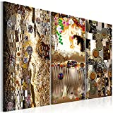murando - Bilder Klimt 135x90 cm Vlies Leinwandbild 3 Teilig Kunstdruck modern Wandbilder XXL Wanddekoration Design Wand Bild - Abstrakt Mutter und Kind l-C-0007-b-e