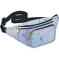 LIVACASA Gürteltasche Damen Bauchtasche Metallic Hüfttasche Mädchen Wasserdicht Waistbag Verstellbarer Gurt Hipbag…