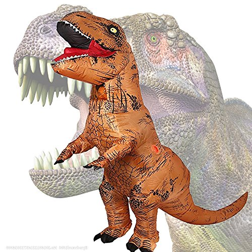 JASHKE tyrannosaurus rex aufblasbare kostüm party geschenk phantasie dress up cosplay party kostüm gelb (Aufblasbare T Rex Kostüm Kind)