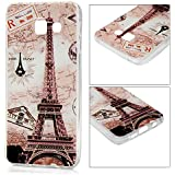 Samsung Galaxy A5(2016) Coque - YOKIRIN® TPU Souple Coloré Phone Case Cover Motif Paris Tour Eiffel