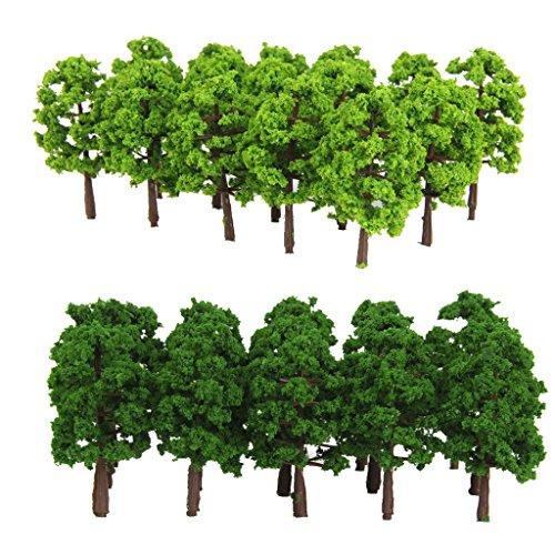 Hellery 40x model tree train architecture scale 1/150 per diy artigianato / edilizia