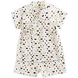 Kimono japonés Jinbei para niños y niñas + Ropa Corta 2 Piezas/Juego para 3M-4T.