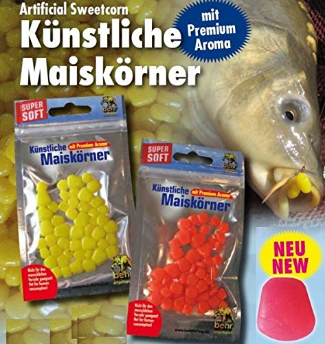 Mais Imitat künstliche Maiskörner für Karpfen, Farbe:Gelb