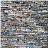 Wallario Möbeldesign/Aufkleber, geeignet für Ikea Lack Tisch - Natursteinmauer in grau braun in 55 x 55 cm