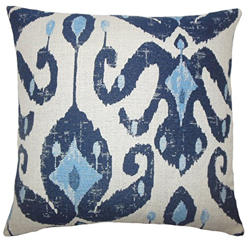 Das Kissen Collection king-d-71096-navy-p100 Eitan Ikat Betten Sham, King/50,8 x 91,4 cm Marineblau