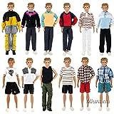Miunana 5 PCS Abiti Vestiti Giacche Selezionati A Caso Per Fidanzato Di Barbie Bambola KEN Dolls