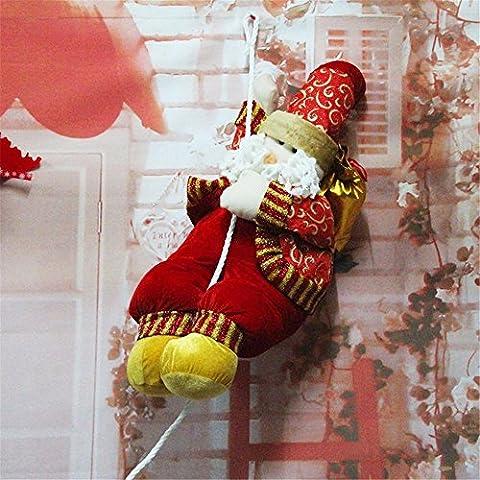 Divertente serie di natale decorazione Novità Peluche doni:decorazione di Natale Decorazioni di Natale regalo Windows ornamenti Santa Claus pendenti 110cm