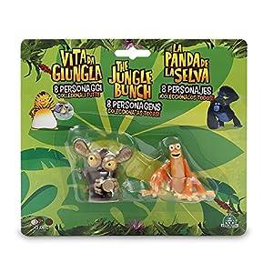 La Panda de la Selva-Al y Gilbert Blister 2 Figuras, Unico (Giochi Preziosi JUN01000)