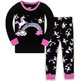 LitBud Navidad Pijamas de Las niñas pequeñas 100% algodón Jirafa Ropa de Dormir Pijama de Manga Larga pjs Conjunto para niños