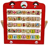 #2: Creative Learning Wooden Alphabet Abacus Teaching Frame Educational Toy For Kids With 360 Rote Letters & Cognitive Letters