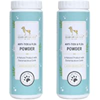 Heads Up For Tails Natural Anti Tick and Flea Powder for Dog & Cat - 100 GMS (Pack of 2)