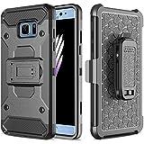 Coque Galaxy S7 Edge, Pasonomi Full Body Armor Defender Coque de protection rigide avec béquille et Clip de ceinture pivotant pour Samsung Galaxy S7 Edge 2016, Noir