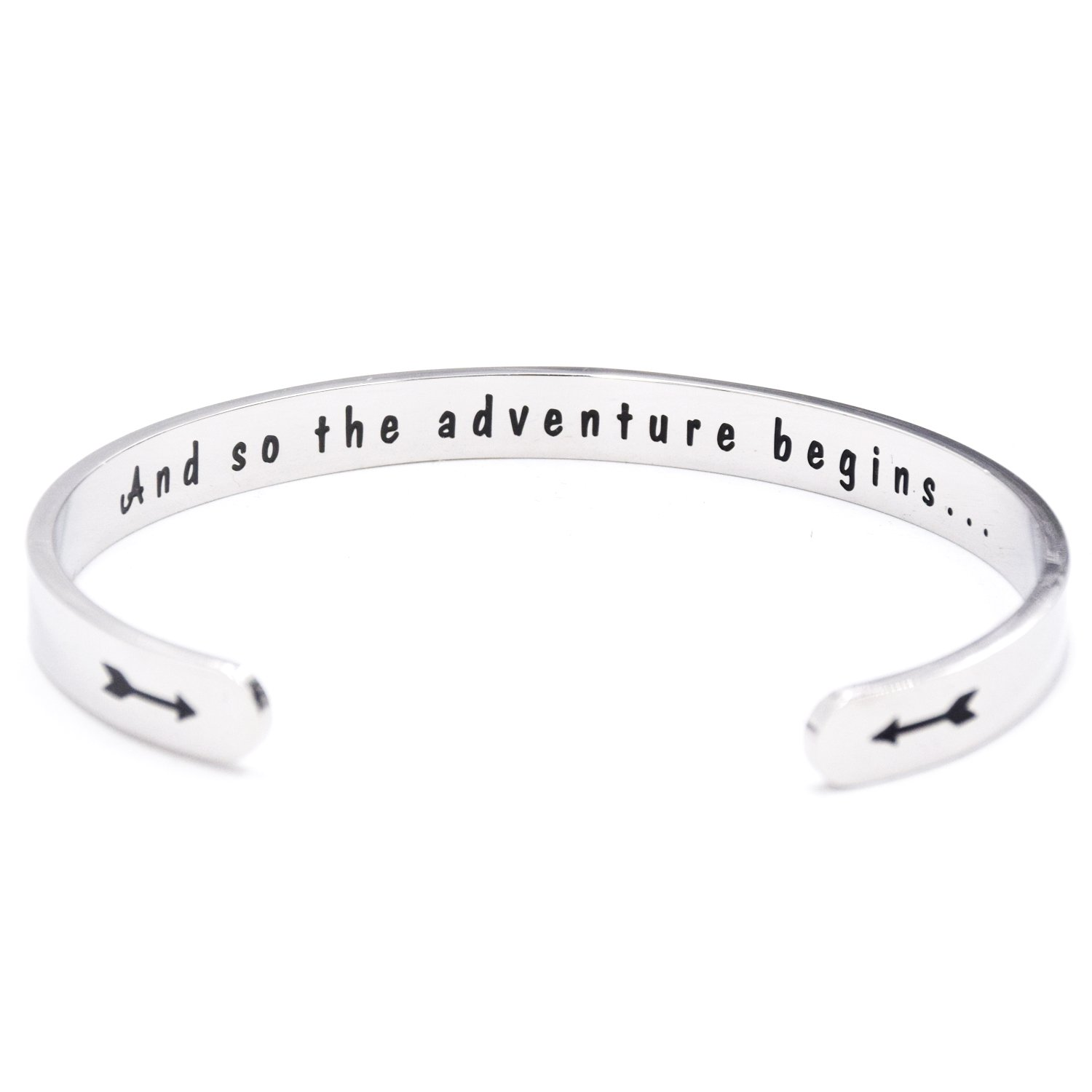 2021 Graduation Gifts Bracelets For Her And So The Adventure Begins Class Of 2021 College Senior Junior High Middle School Students Gift Cuff Bracelet Inspirational Gifts For Women Graduation Jewelry