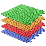casa pura Bodenfliesen Kunststoff Safe & Protect | Stecksystem | 16 Stück | 1m² | In 4 Farben (gelb)