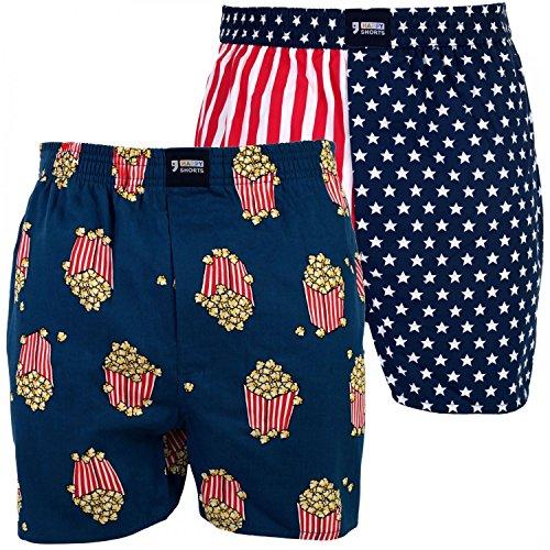 Happy Shorts 2 Webboxer Herren Boxer Motiv Boxershorts Farbwahl, Grösse:L - 6-52, Präzise Farbe:Design 3