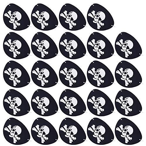 Pirat Schwarz Piraten Zubehör Filz für Halloween Party Weihnachten 24 Stück ()