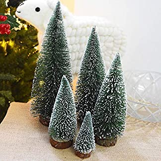 RoadRoma Árboles de Navidad Artificiales Pequeña Planta de Simulación Nevado Escritorio Árbol de Navidad