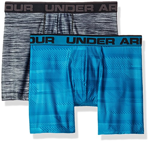 Original 6in 2 Pack Novlty Unterhose, Blue Shift / Steel, L (Under Armour Boxer)