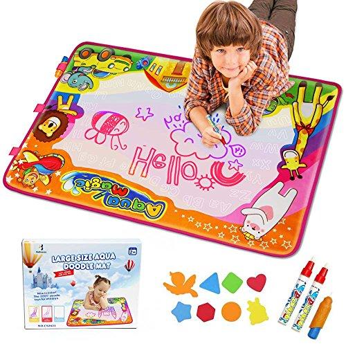 EpochAir Kids Baby Toddler Wasser Zeichnen Aqua Doodle Matte Toy mit 2 Stiftes, 86 x 57cm, 1 Bürste...