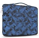 Zinz Sleeve Protettiva per Laptop 15,6 Pollici Ventiquattrore Notebook con Manici e Cerniera per 15-15,6' HP | dell | ASUS | Acer | Thinkpad | Samsung | Lenovo Laptops Ultrabooks -Fiori Blu