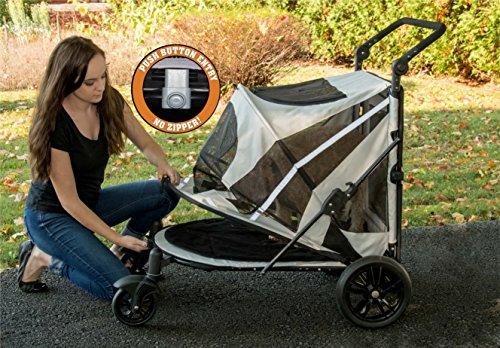 Pet Gear No-Zip Expedition Zipperless Entry Boysenberry Pet Stroller 3