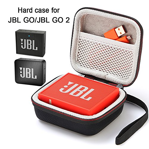 Estuche para JBL Go/JBL GO 2, Estuche Rígido para Transporte de Viaje para JBL GO/JBL GO 2 Altavoz inalámbrico Portátil Bluetooth (Estuche, Altavoz y Accesorios no incluidos) - Negro