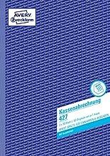 Avery Dennison Zweckform cashing-up livre Premier et deuxième Page Imprimé avec TVA Colonne pour revenu et dépenses A4 2 x 50 pages (texte allemand)