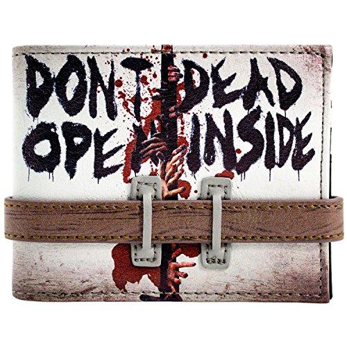 Walking Dead Öffnen sie nicht Strap Buttoned Grau Portemonnaie - Rick Grimes Kostüm Kind