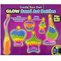 Childrens Bottle Glow Sand Art Set Make Your Own Activity Craft Kit