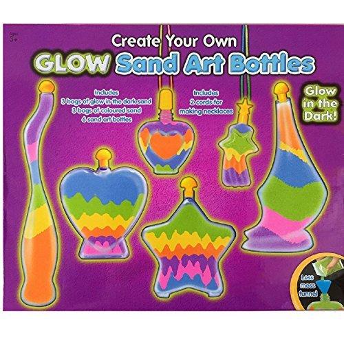 Kinder Flasche Glow Sand Art Set Machen Sie Ihre eigene Aktivität Craft Kit