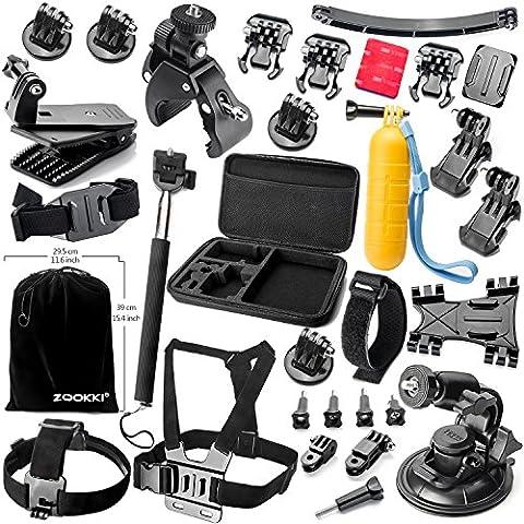 Zookki Accesorio Kit para GoPro Hero 5 4 3+ 3 2 1 Black Silver, Caméra Accessoires para Acción Cámara Xiaomi Yi/Lightdow/WiMiUS/DBPOWER, SJ4000 SJ5000