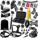 Accesorios Best Deals - Zookki Accesorio Kit para GoPro Hero 5 4 3+ 3 2 1 Black Silver, Caméra Accessoires para Acción Cámara Xiaomi Yi/Lightdow/WiMiUS/DBPOWER, SJ4000 SJ5000 SJ6000