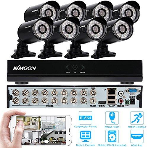 KKmoon 16 Canali 960H D1 DVR Videoregistratore 8pcs 800TVL IR Telecamere di Sicurezza Impermeabile Sistema di CCTV Kit di Sorveglianza