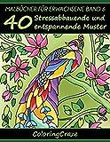 Malbücher für Erwachsene Band 6: 40 Stressabbauende und entspannende Muster, Aus der Malbücher für Erwachsene-Reihe von ColoringCraze (Anti-Stress Kunsttherapie Reihe, Band 6) - ColoringCraze