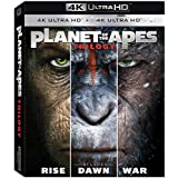 Planet Of The Apes Trilogy 4K Ultra HD (War of The Planet Of The Apes 4k,rise of the planet of the apes 4k,dawn of the planet of the apes 4k) Exclusive Limited Edition Region Free