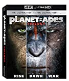 Planet Of The Apes Trilogy 4K Ultra HD (War of The Planet Of The Apes 4k,rise of the planet of the apes 4k,dawn of the planet of the apes 4k) Exclusive Limited Edition Region Free (import)