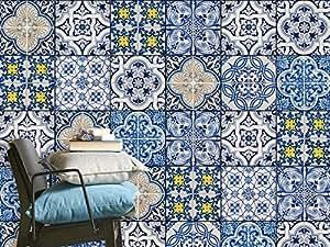 autocollant carreau ciment recouvrir carrelage mural salle de bain et faience cuisine. Black Bedroom Furniture Sets. Home Design Ideas