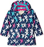 Hatley Girl's Printed Raincoat, Blue (Starflower), 3 Years