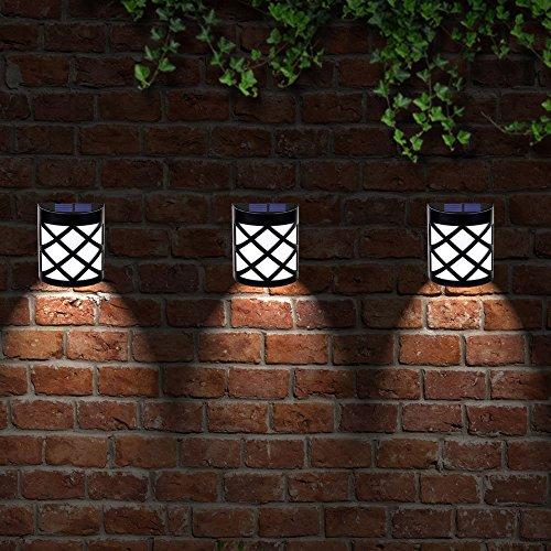 Solar Gartenlampe,Miya Freien solar Lampe Lichtsensor Licht wasserdicht LED Solar Licht im Outdoor Garten Dekoration Solar Außenleuchte hängend Lampe für Balkon,Outdoor Zaun, Wand und Garten (weiß) (Hängende Solar System)