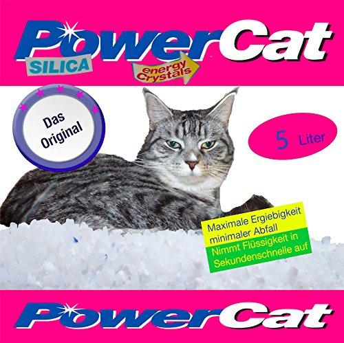6 x 5 l = 30 L Power Cat Magic Silikat Katzenstreu Powercat