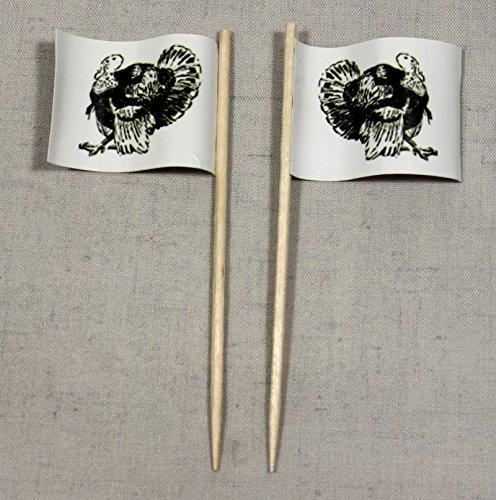 Party-Picker Flagge Pute Truthahn Papierfähnchen in Profiqualität 50 Stück Beutel Offsetdruck...