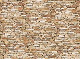 Fototapete Natursteinmauer Hell 350cm Breit x 260cm Hoch Vlies Tapete Wandtapete - Tapete - Moderne Wanddeko - Wandbilder - Fotogeschenke - Wand Dekoration wandmotiv24
