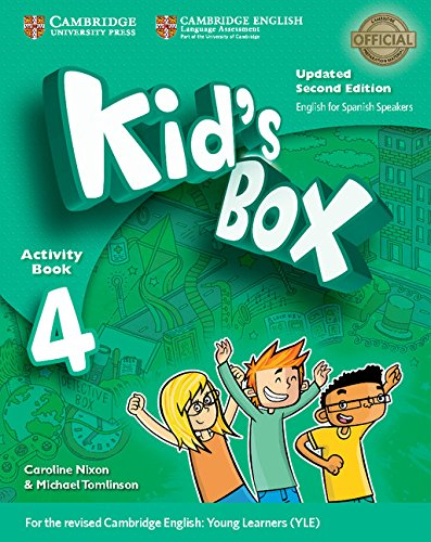 Kid's Box Level 4 Activity Book with CD ROM and My Home Booklet Updated English for Spanish Speakers por Caroline Nixon